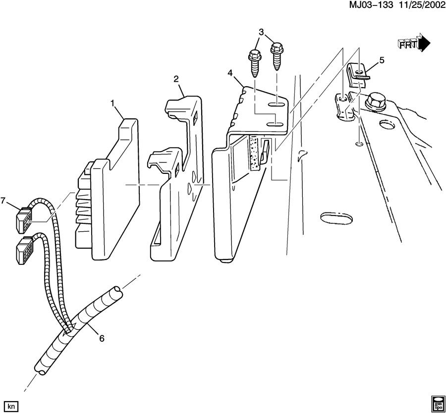 chevrolet cavalier p c m  module  u0026 wiring harness