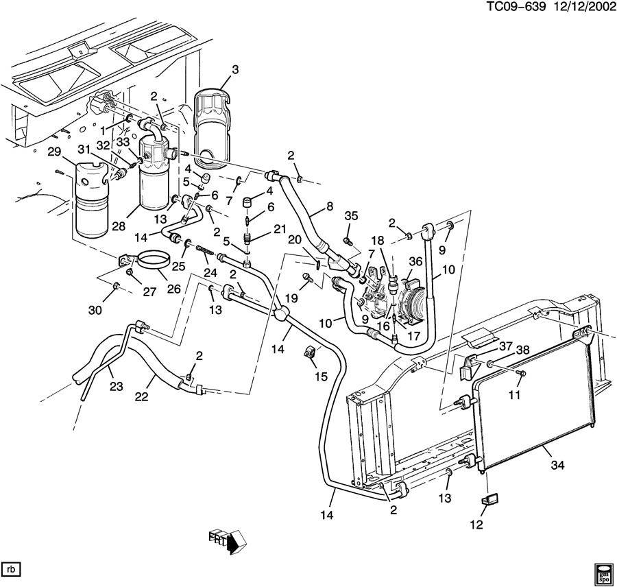 cadillac escalade a/c refrigeration system/front 96 chevy tahoe ac and heater wiring diagram 2004 tahoe ac diagram