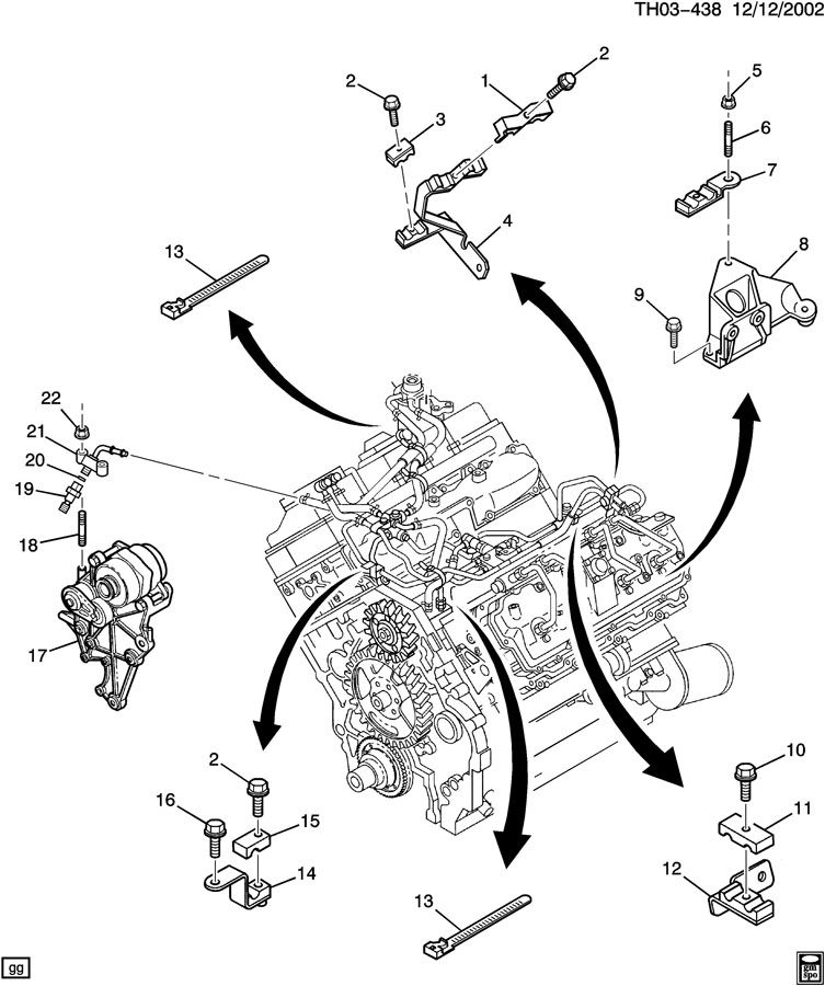 97307346 gmc bracket fuel line bracket  fuel feed