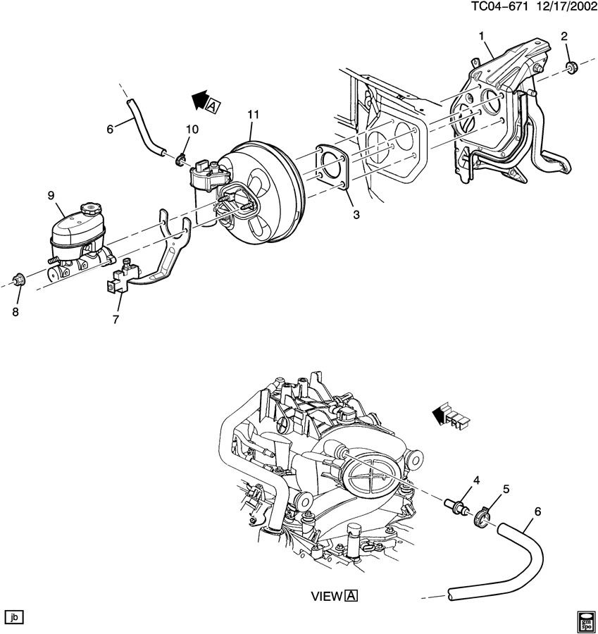 gm brake booster parts diagram  diagram  auto wiring diagram