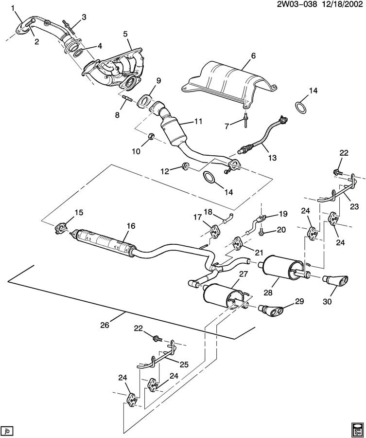 2005 Pontiac Grand Prix Exhaust System
