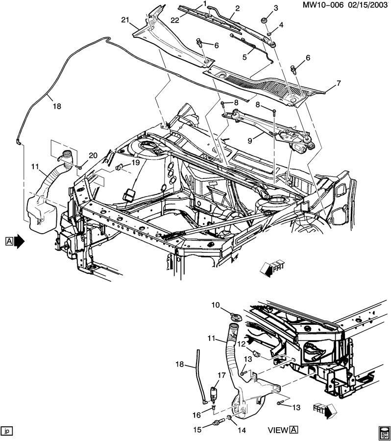 2004 Pontiac Grand Prix Hose  Windshield Washer  Hose  Wswa Pump