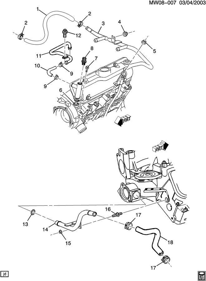 Buick Century Hose  Engine Coolant By