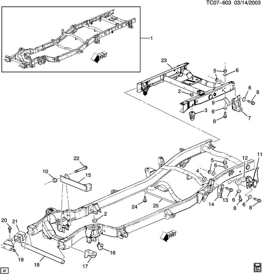 2000 chevy silverado frame parts diagram  harness  auto