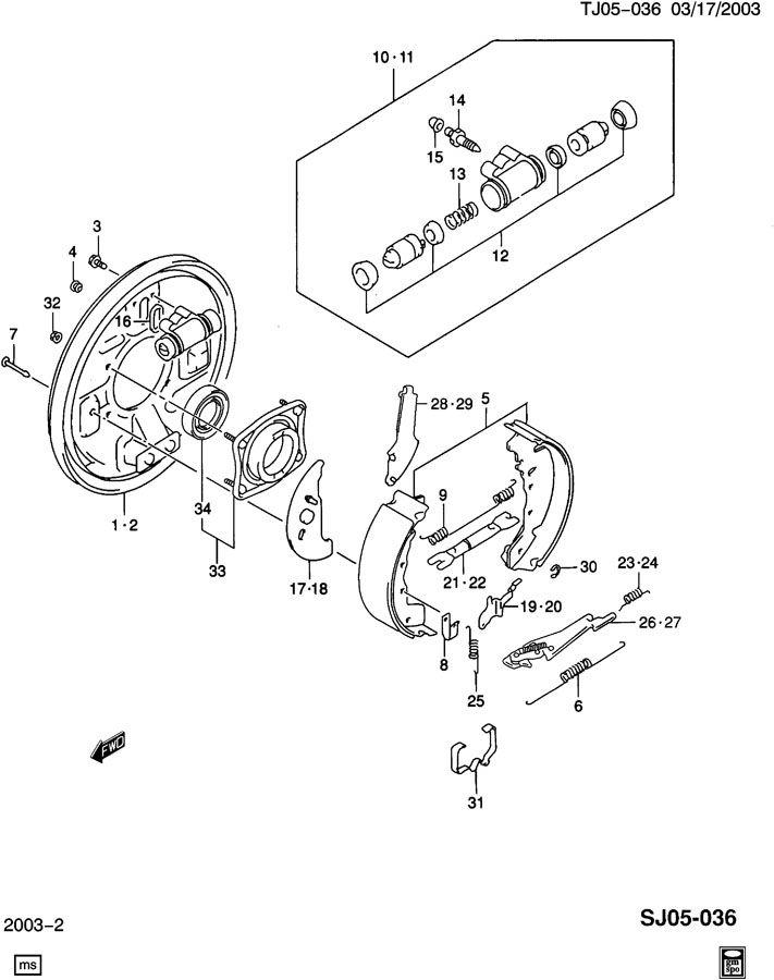 geo tracker spring  brake adjuster  spring  rr brk shoe adjr a  rtl  - rh