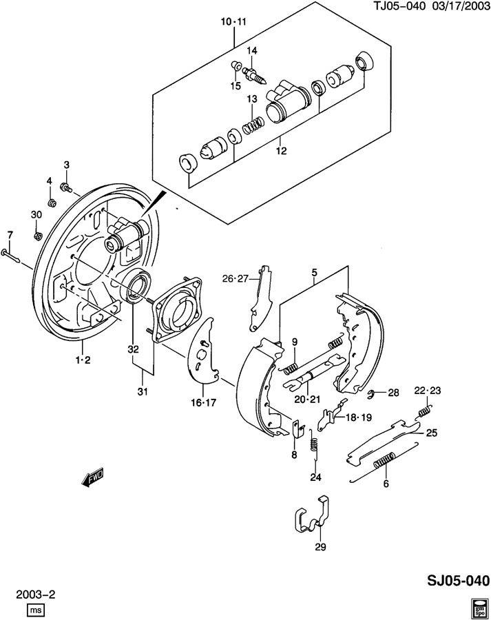 Rear Brake Assembly Diagram For 2004 Ml350