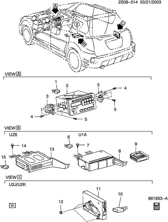 2004 Pontiac Vibe Audio System
