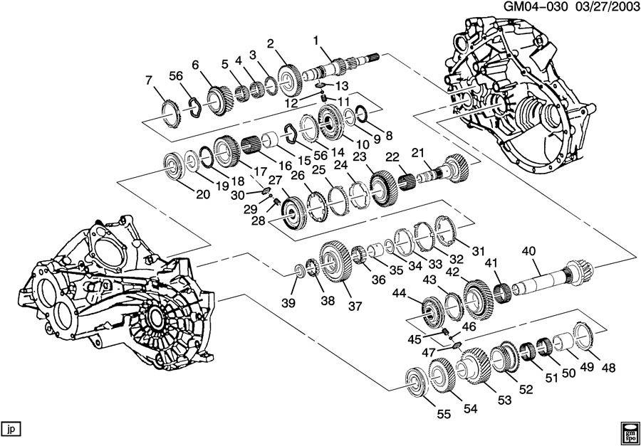 Chevrolet Cavalier Hub  Transmission Synchronizer  Hub