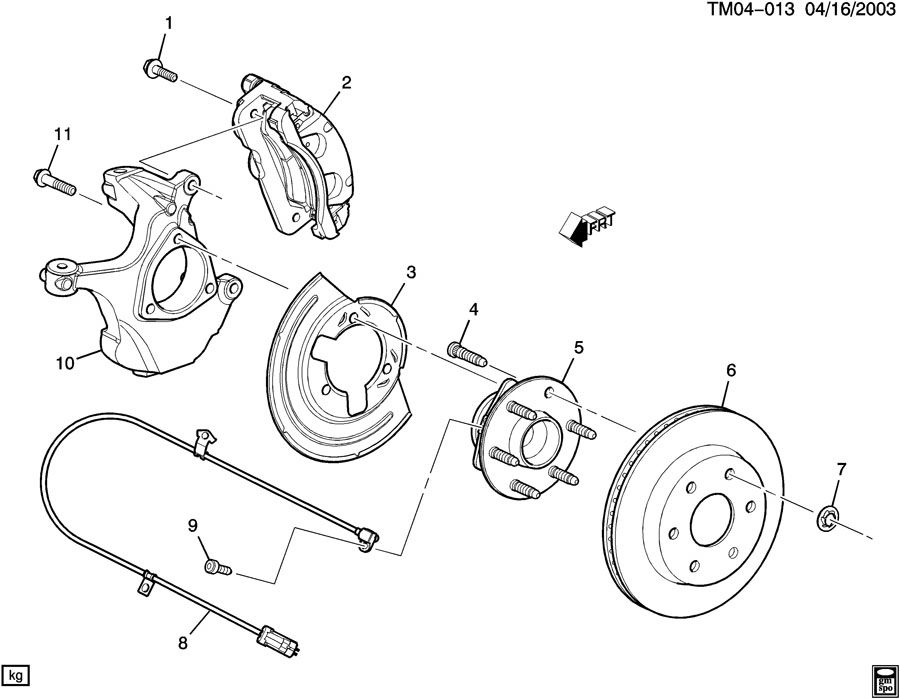 15719028 Gmc Bolt Steering Knuckle Steering Knuckle