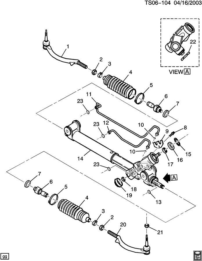 oldsmobile st1 steering gear asm  t1 steering gear asm