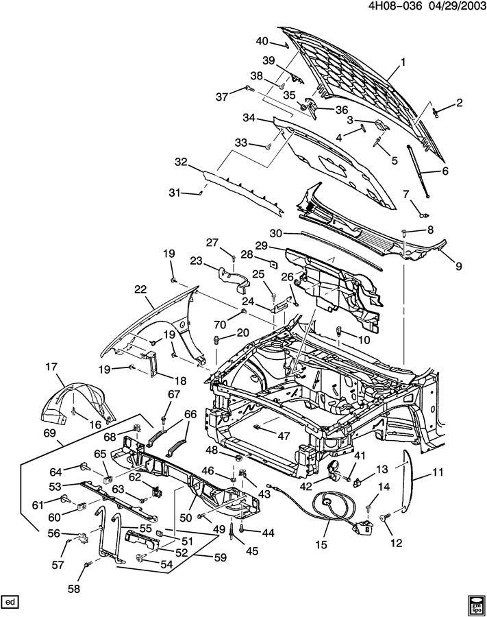 2003 Buick Lesabre Limited 4dr Plate  Retainer  Rivet