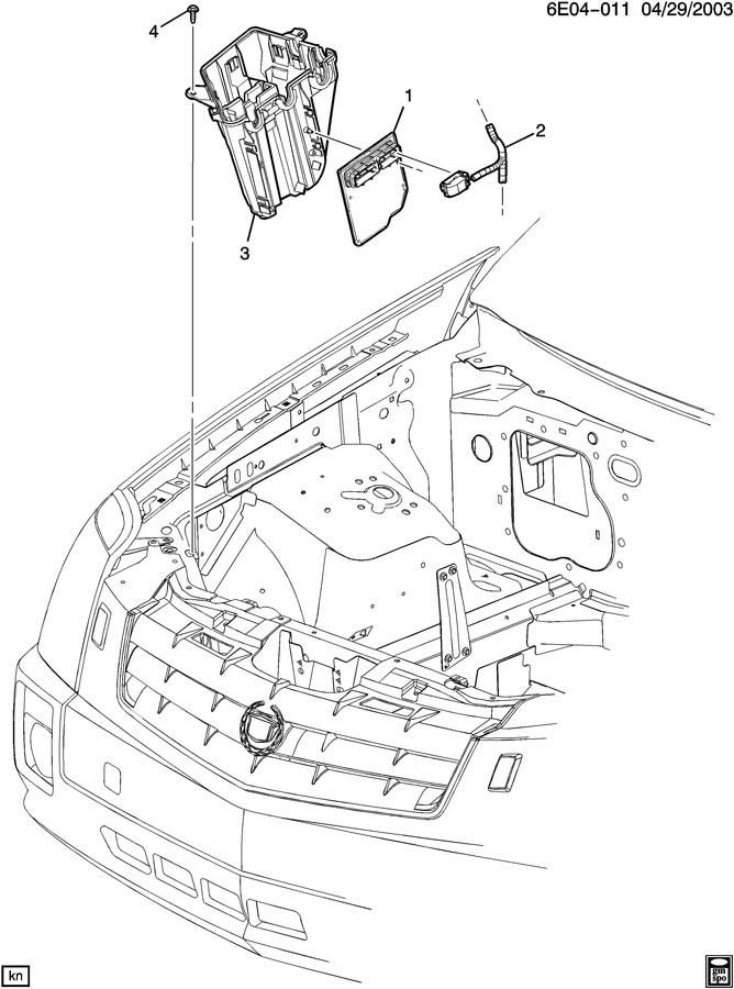 2005 Cadillac Sts Module  Transmission Control Module
