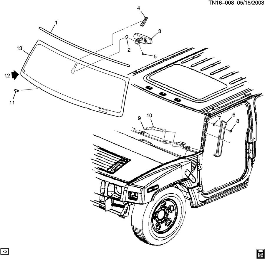 hummer windshield  u0026 related parts
