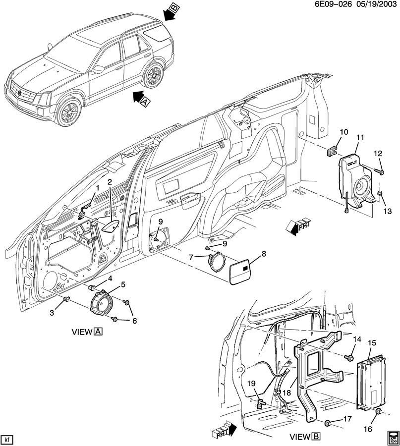 parts for 2004 cadillac srx custom