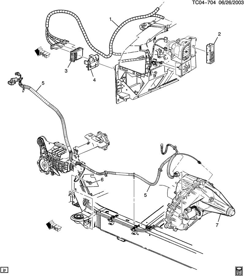 service manual  installing trasfer case motor on a 2003