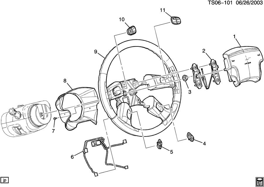 part number    steering wheel with controls