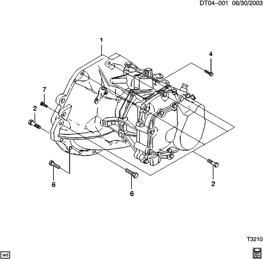 Diagram 5-SPEED MANUAL TRANSMISSION for your 2009 Chevrolet Aveo  Base 4DR