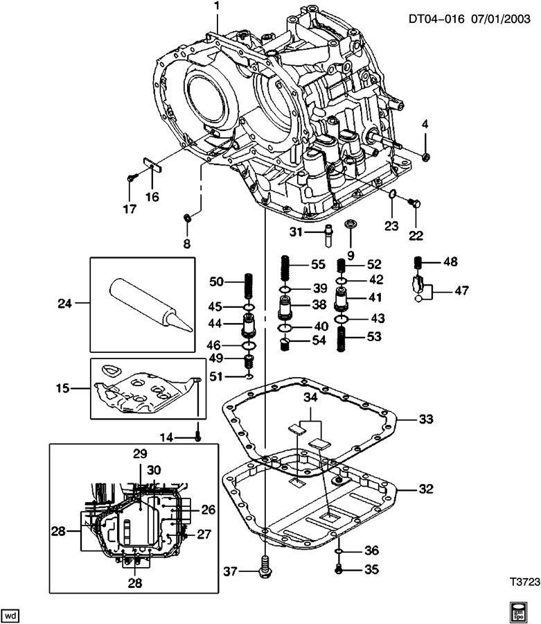 Chevrolet Aveo Valve  Transmission Main Control Valve Body