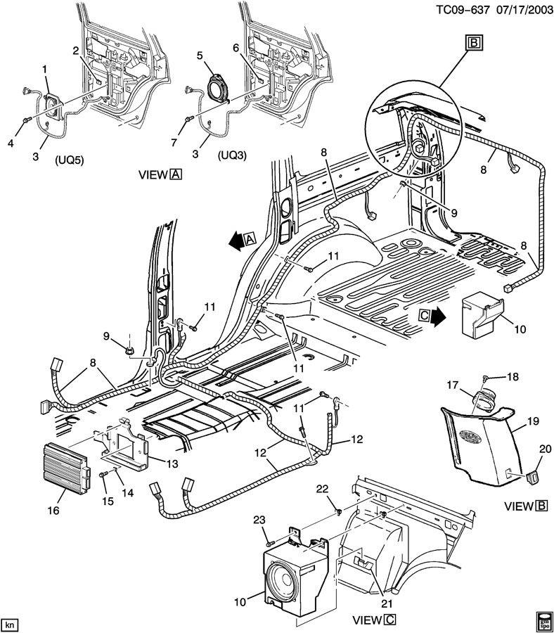 audio system  amplifier  u0026 rear speakers
