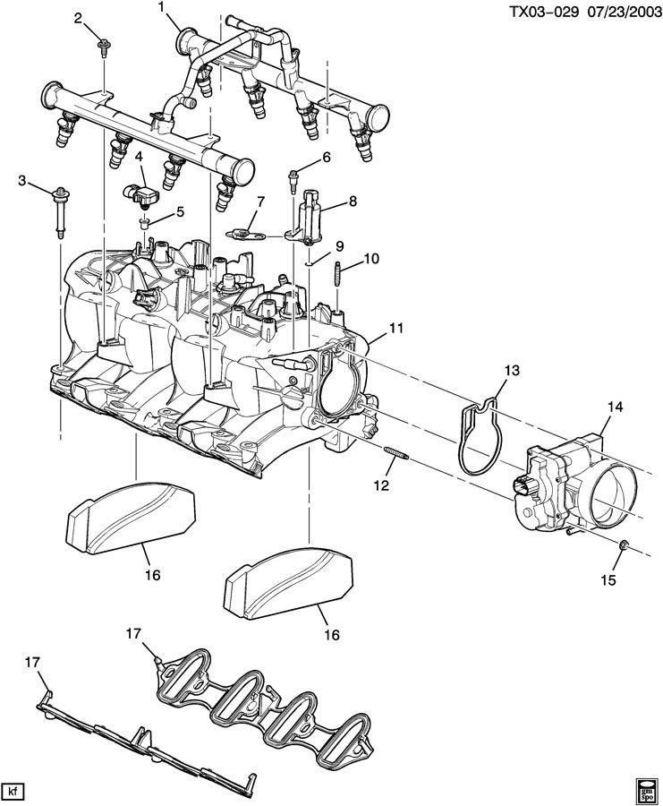 Chevrolet Silverado 2500 Manifold  Engine Fuel Intake