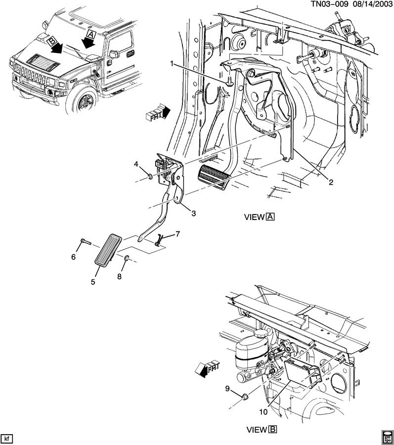 service manual  brake change on a 2004 hummer h2
