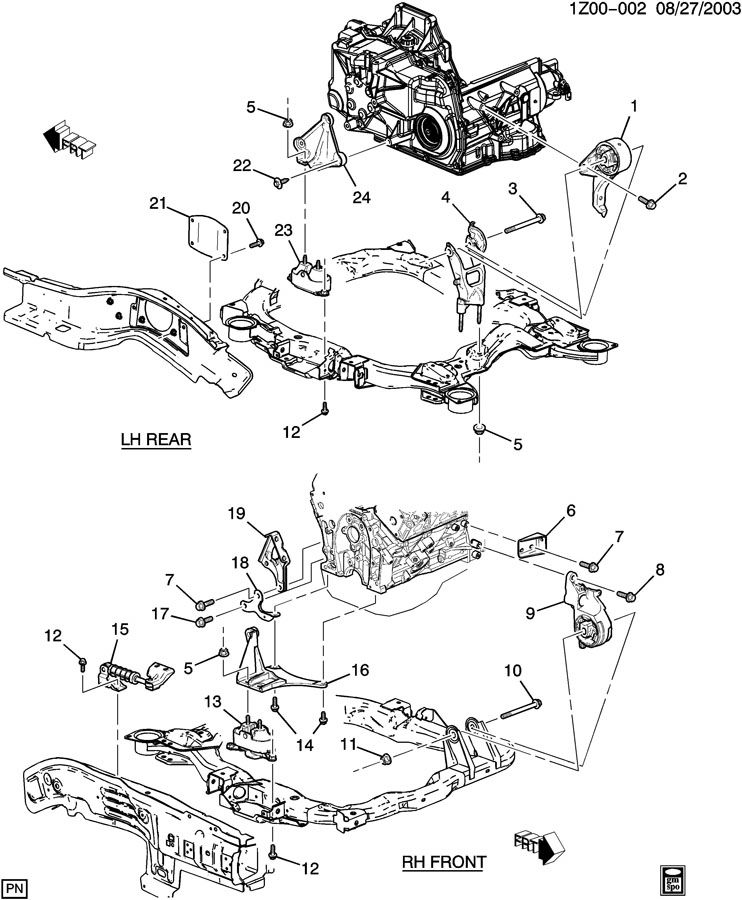 2005 Chevy Malibu Engine Mount Diagram