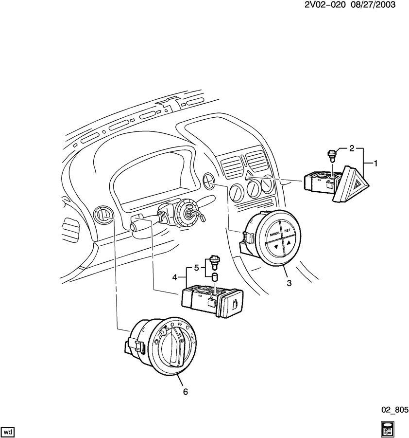 2004 pontiac gto instrument panel switches