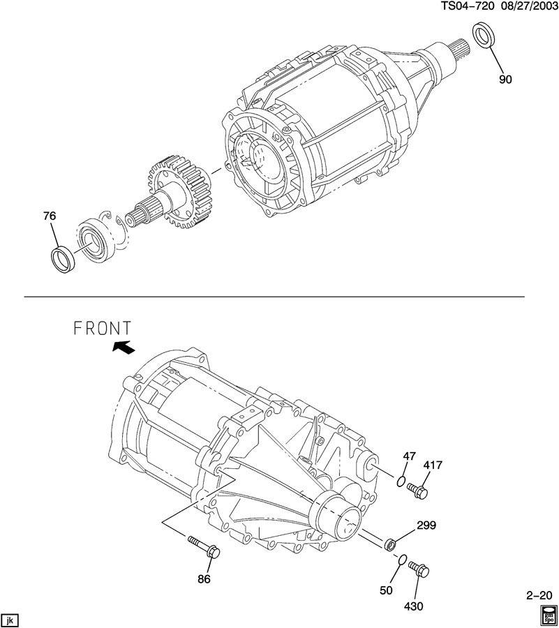 2012 Chevrolet Colorado Regular Cab Head Gasket: TRANSFER CASE PART 2 SEALS & PLUGS