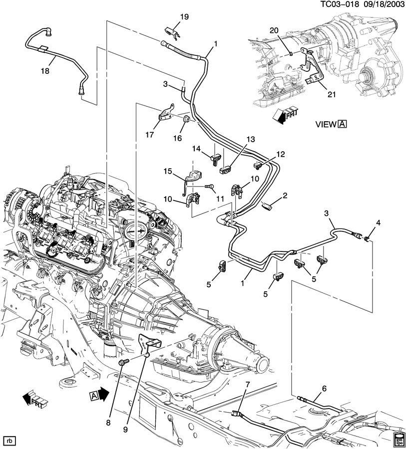 GMC YUKON Hose. Evaporation emission system (fuel tank end ...