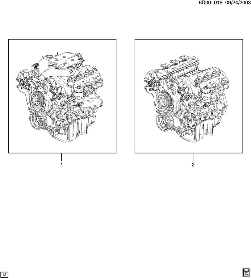 Diagram ENGINE ASM & PARTIAL ENGINE for your 2006 Cadillac CTS