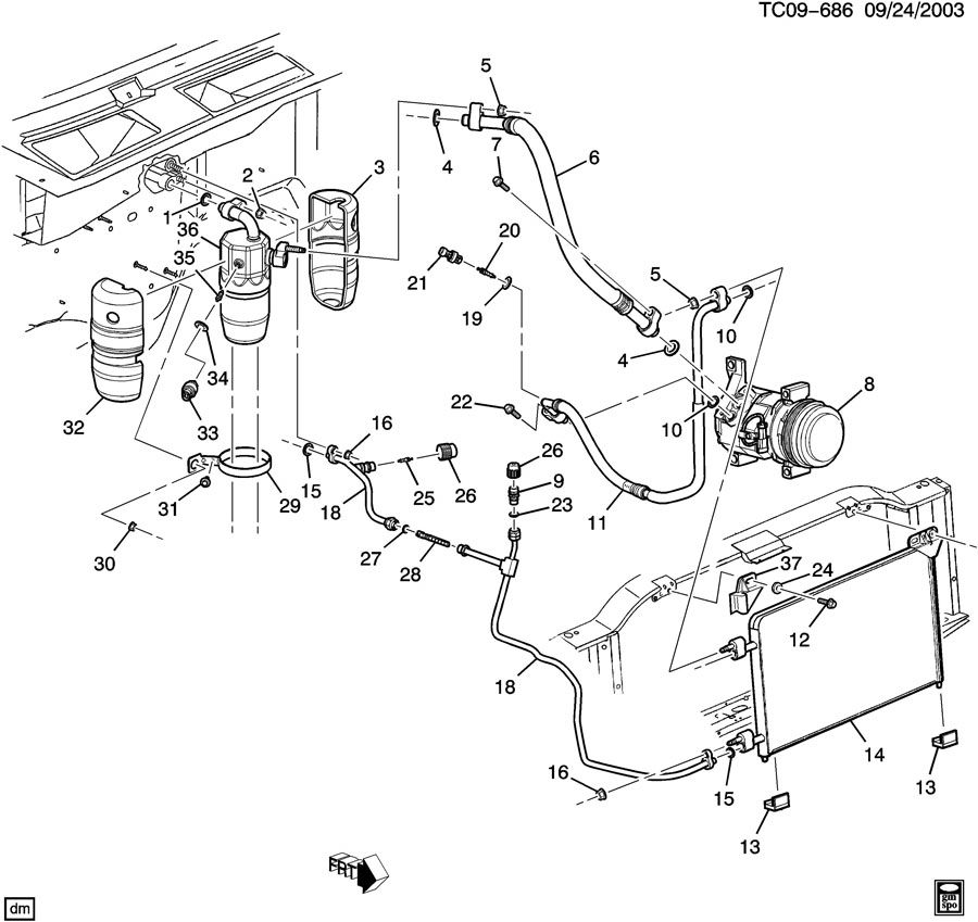 Chevrolet P30 Motorhome besides Silverado Fuel Purge Valve also Mercruiser E5 7V MR2 New 5 likewise Buick Rendezvous Heater Hose Diagram as well Gm Fuel Tank Vent Valve. on gm oem fuel lines