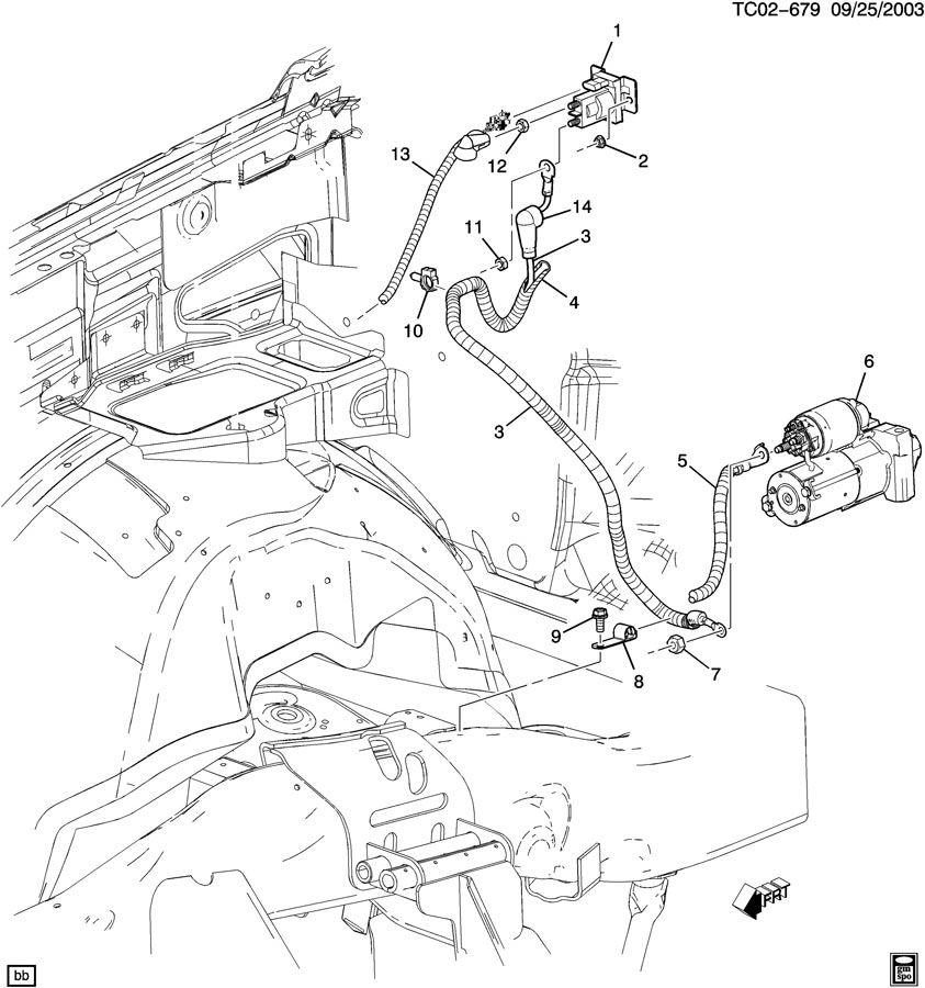 Gmc Sierra Relay  Isolator  Battery  Chassis  Body Marker