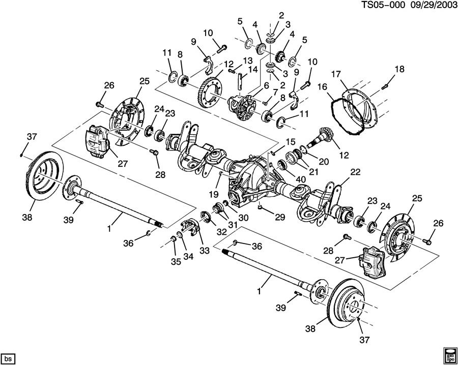 2005 buick rainier suspension diagram