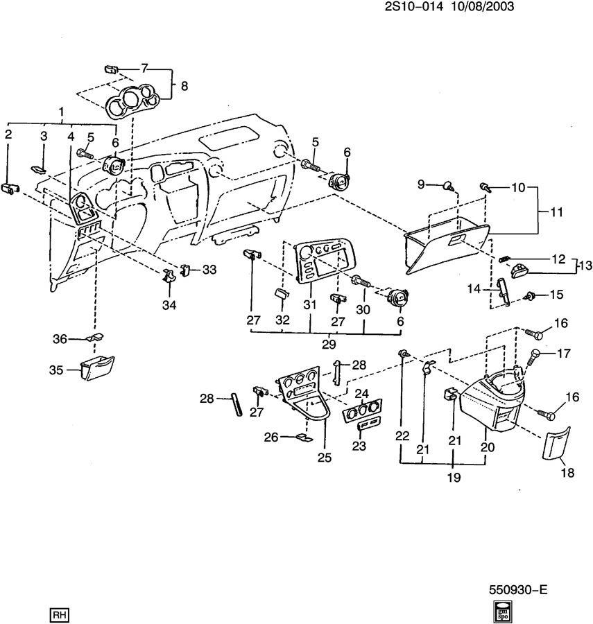 2007 Pontiac Vibe Transmission: INSTRUMENT PANEL PART 2