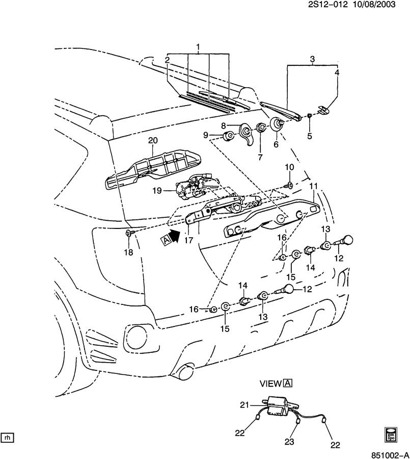 2007 Pontiac Vibe Transmission: WIPER SYSTEM/REAR WINDOW