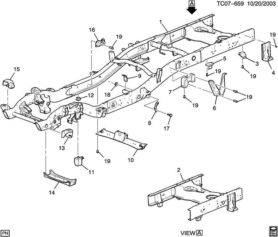 2004 Chevrolet Silverado Ss Frame  Chassis  Halfdrill  Framerr