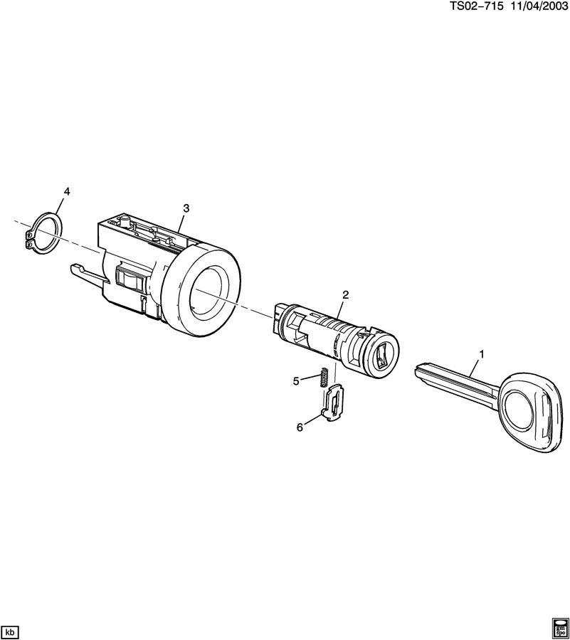 2006 Hummer H3 Key  Ignition And Locks  Key  Dr Lk  U0026 Ign