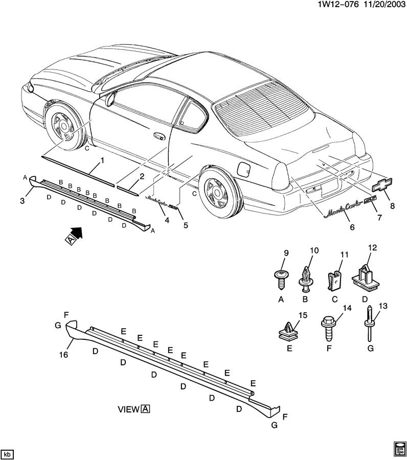 exterior body diagram - monte carlo forum