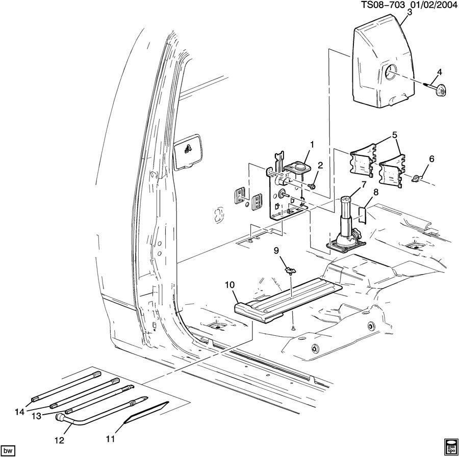 146554 Jack Tool Stowage Print on Chevrolet Silverado