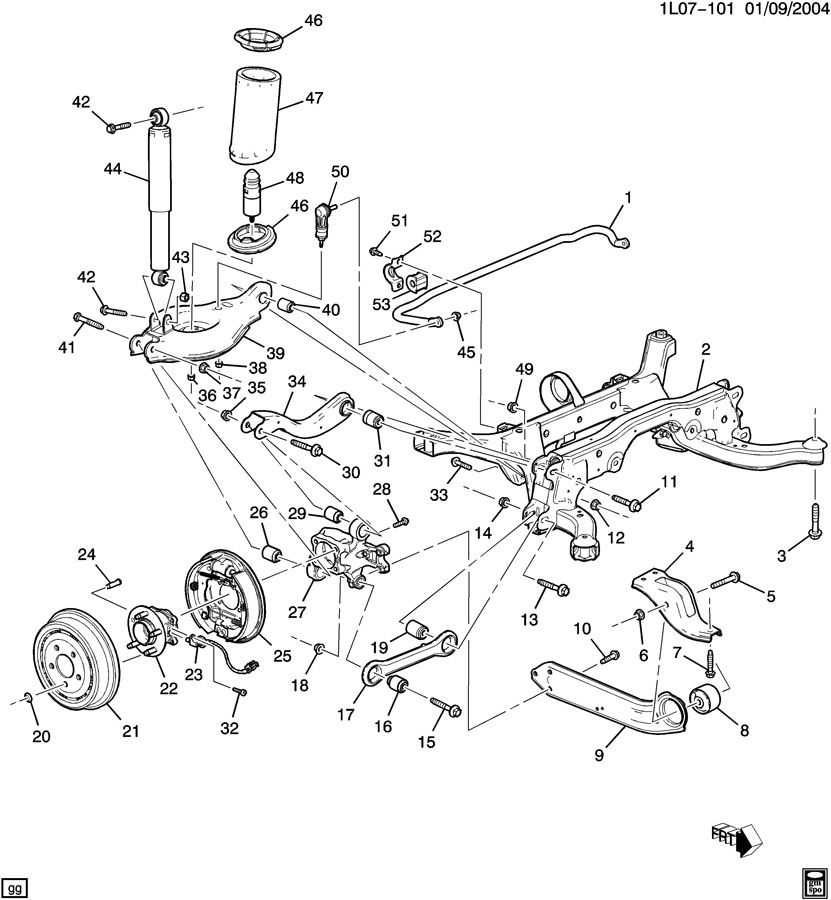 2006 Pontiac Torrent Front Suspension Diagram