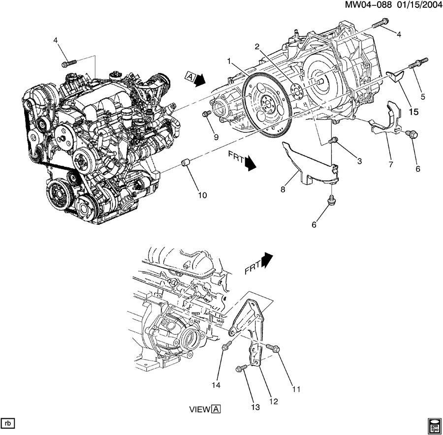Pontiac Grand Prix Brace  Transmission Mounting  Brace  Transaxle To Eng   Brace  Transaxle