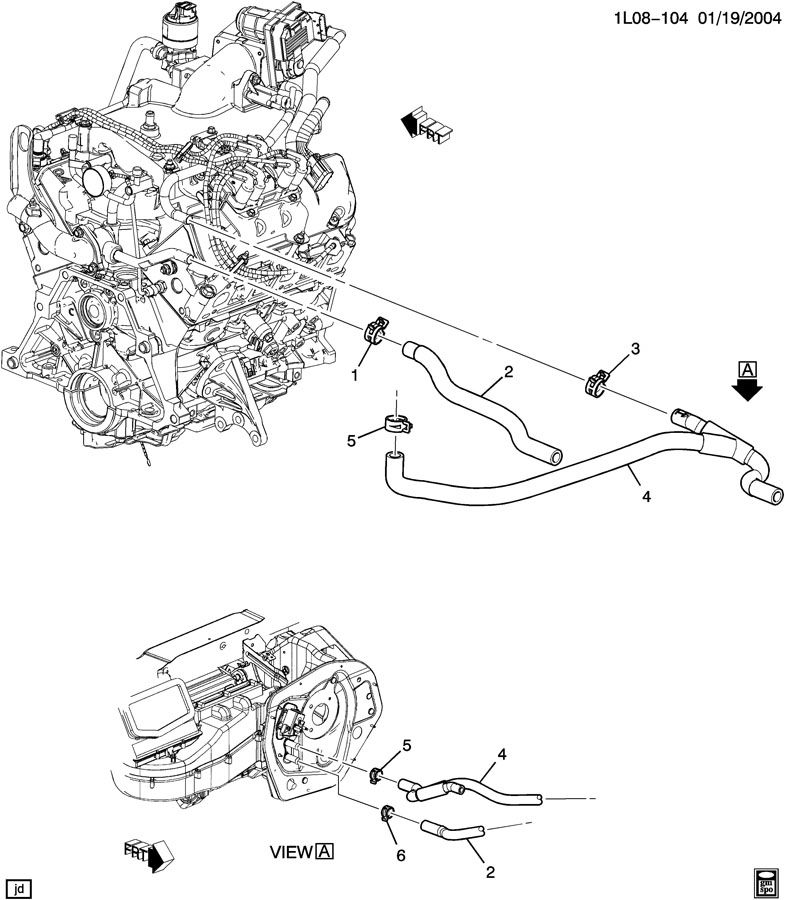 pontiac torrent blower motor location