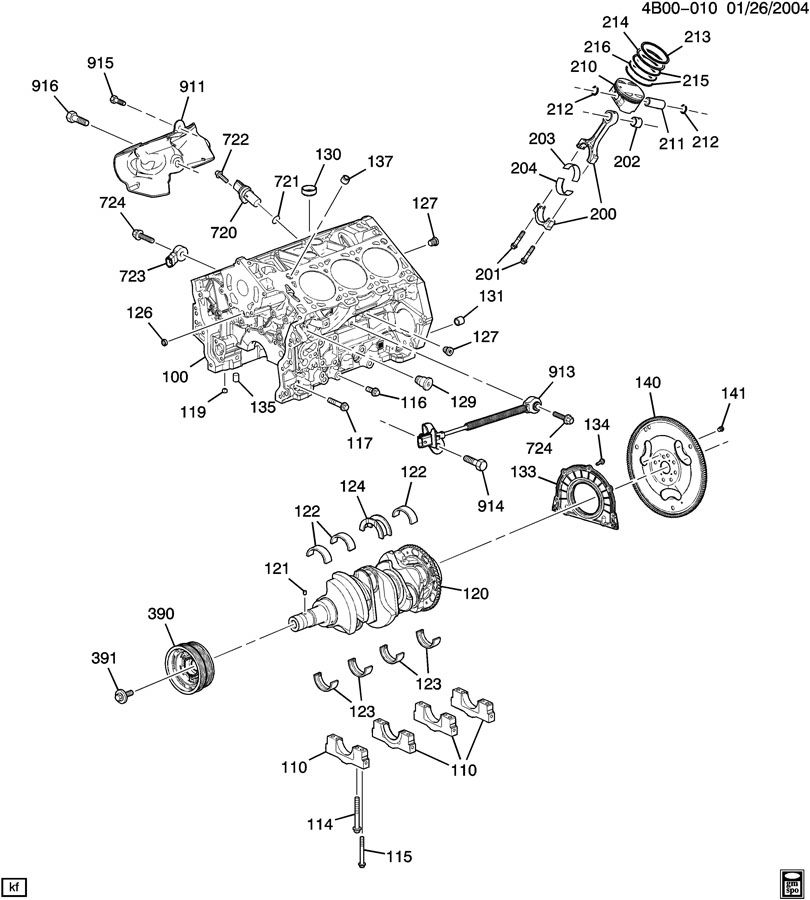 Buick Rendezvous Engine Asm