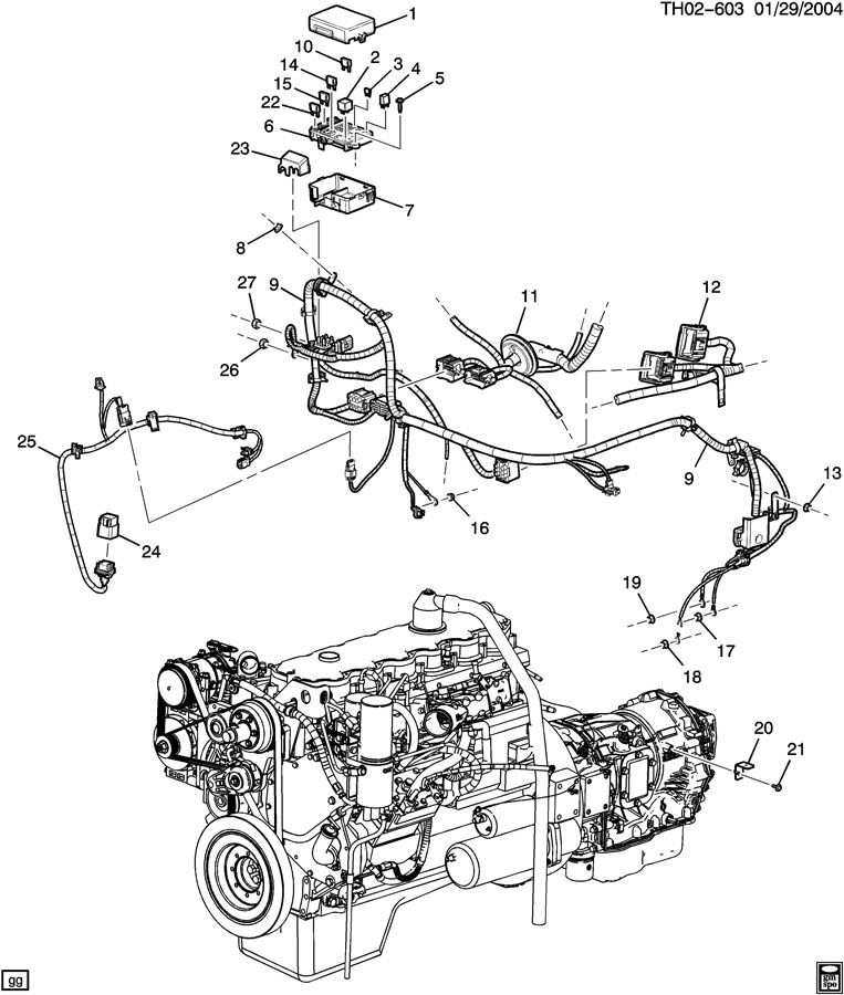 Dump Truck Engine Diagram