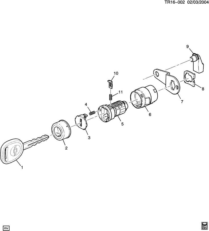 Chevrolet Silverado Door Lock Cylinder Clip  Front   2