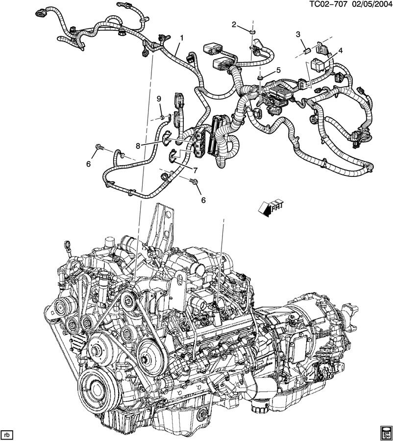 chevrolet wiring harness  engine