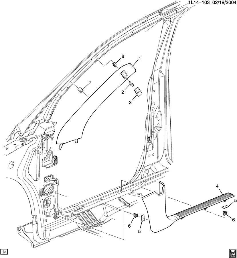 2007 pontiac torrent trim  front