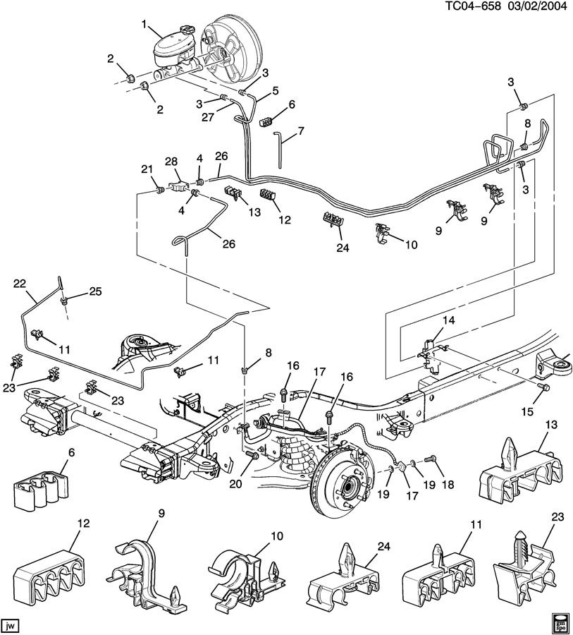 2003 Gmc Yukon Brake Line Diagram