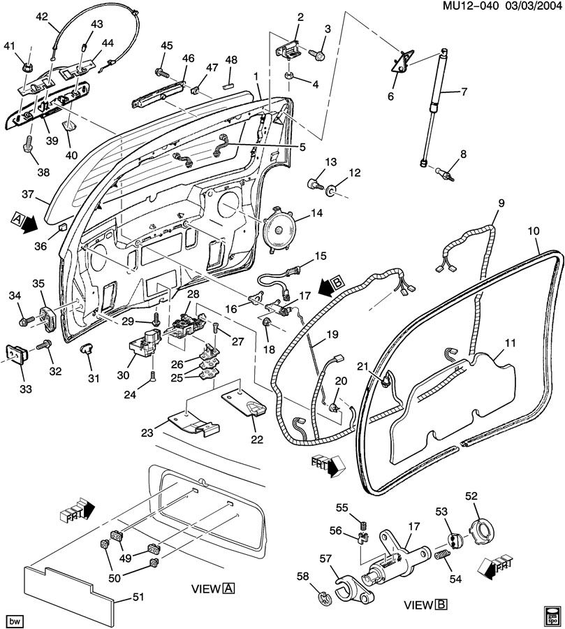 2002 pontiac montana window parts diagram  pontiac  auto