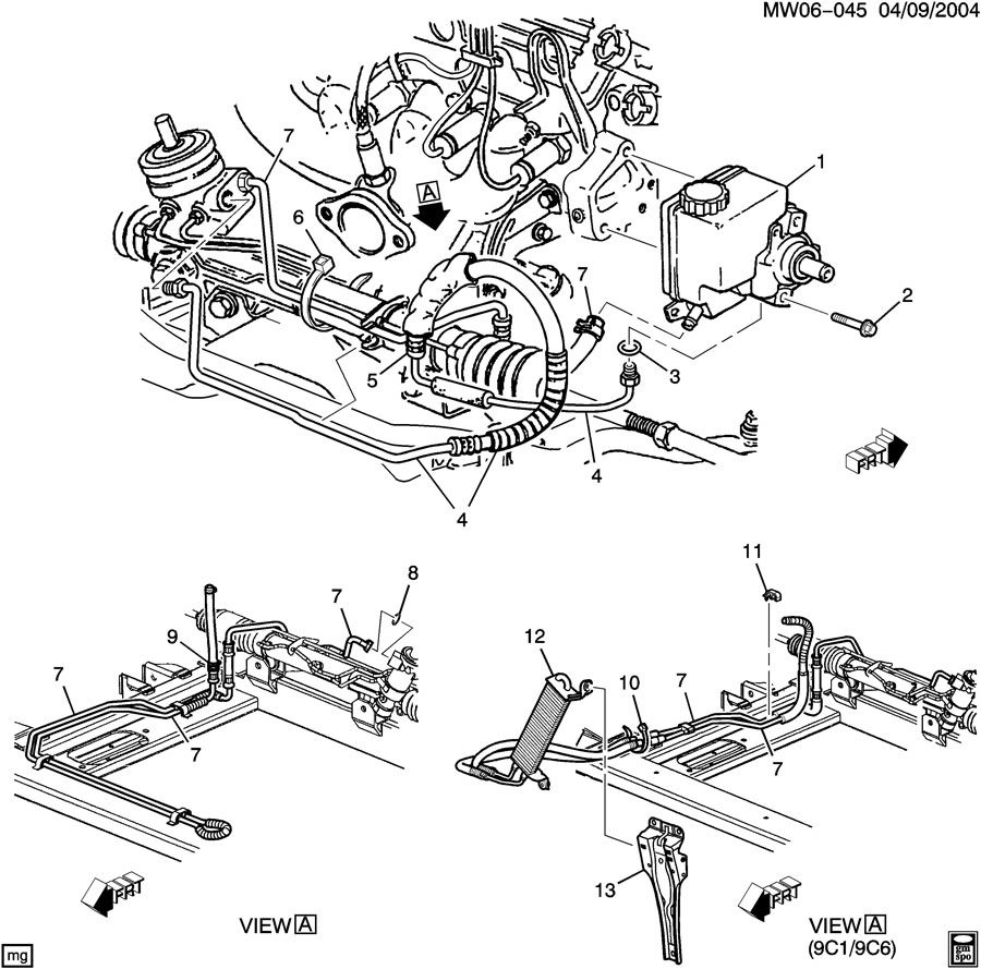 2005 chevrolet impala 3 4l exhaust parts diagram